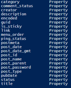 wordpress-xml-powershell-properties