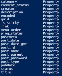 wordpress-xml-powershell-properties